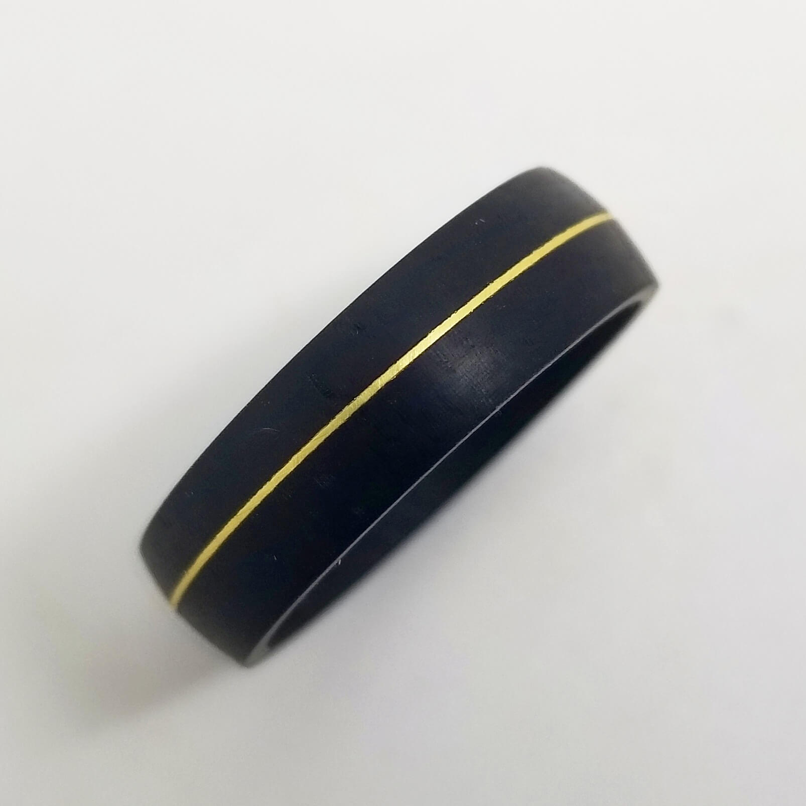 African Blackwood Brass Ring